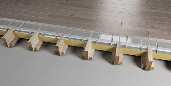 05 | JOISTED Plated EPS underfloor heating system 1