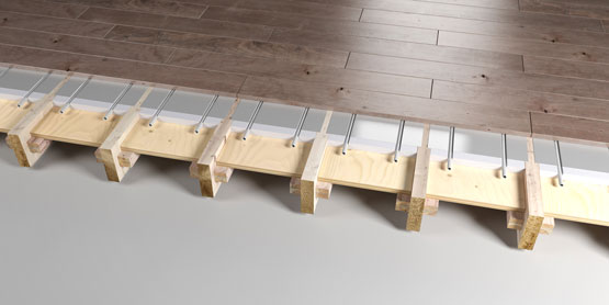 05 | JOISTED Plated EPS system 1 underfloor heating system