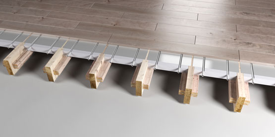 06 | JOISTED Plated EPS system 2 underfloor heating system